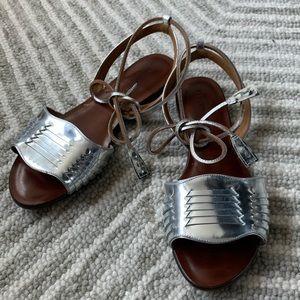 Veronica Beard Silver Sandals